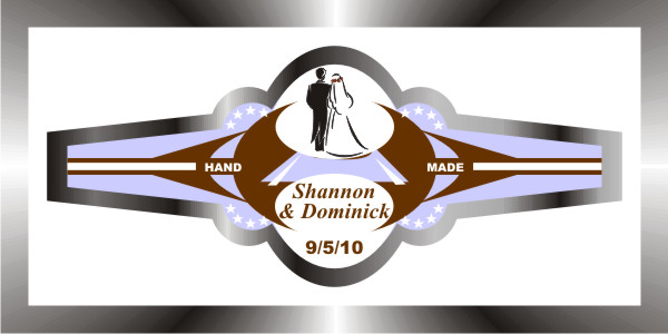 personalized wedding cigar band 25